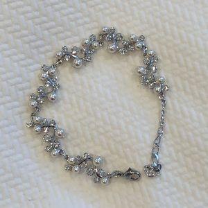 Swarovski diamond & pearl bracelet